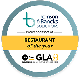 Restaurant of the Year SoGlos Gloucestershire Lifestyle Award 2020