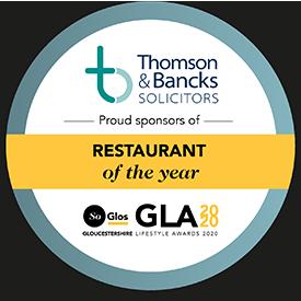 Restaurant of the Year SoGlos Gloucestershire Lifestyle Award 2020