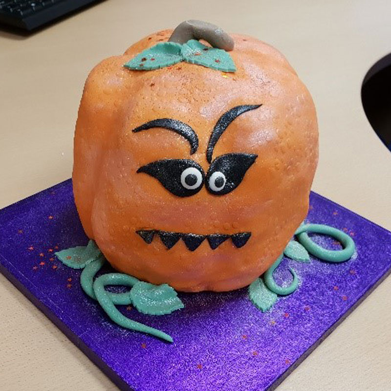 Charity bake-off halloween cakes fundraising