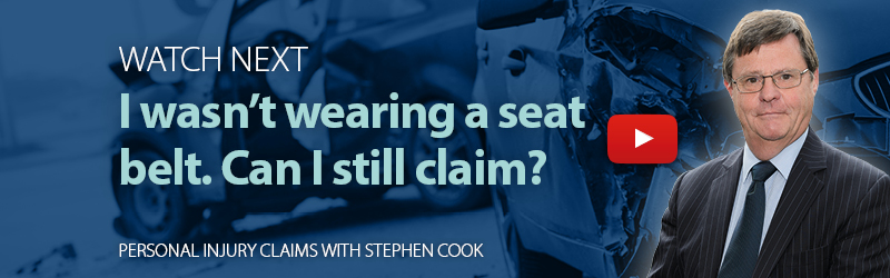 Not wearing seat belt in an RTA